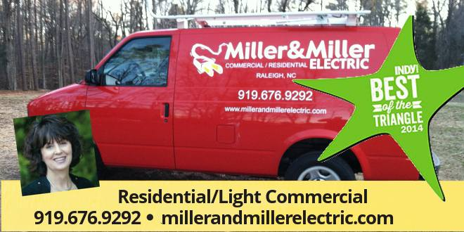 Miller miller electric inc home wiring electrical repairs experienced licensed professional electrician in raleigh triangle area aloadofball Gallery